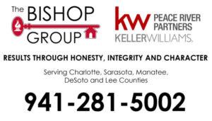 Keller Williams, Peace River Parners. The Bishop Group Logo. 941-281-5002