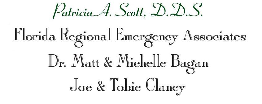 Silver Sponsors: Patricia A Scott DDS, FL Regional Emergence Assoc, Dr. Matt & Michelle Bagan, Joe & Tobie Clancy